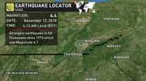 Earthquake shakes Tennessee, second strongest on record