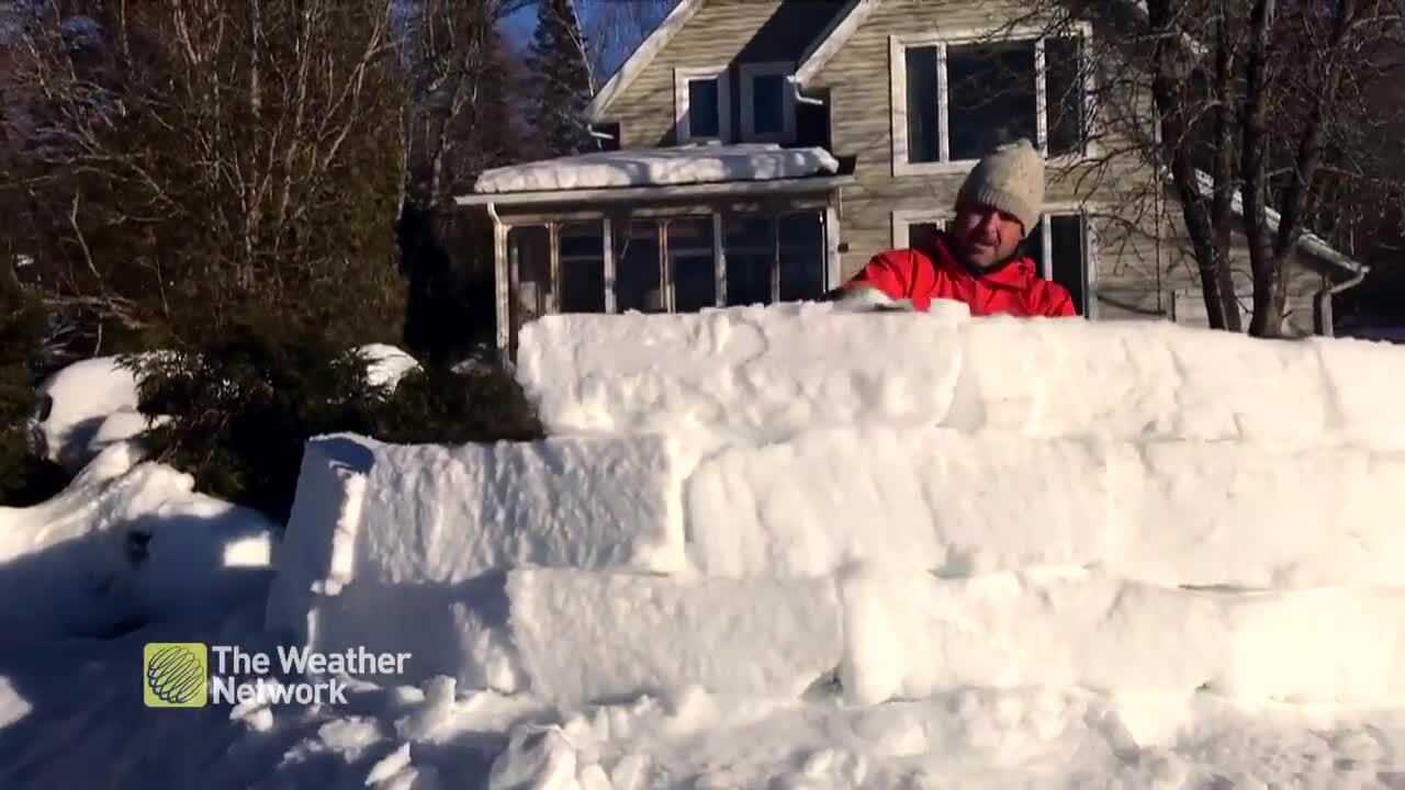 When Life Gives You Snow You Make The Coolest Lakeside Igloo