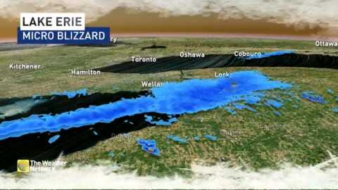 Micro Blizzard Off Fort Erie Dangerous Travel Into Buffalo